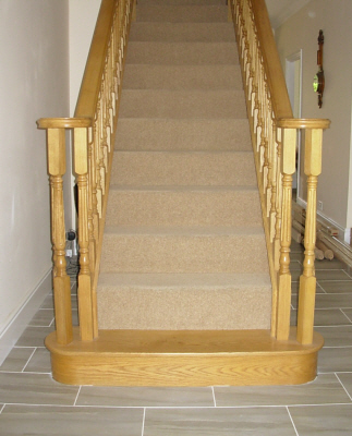 oak double sided stair