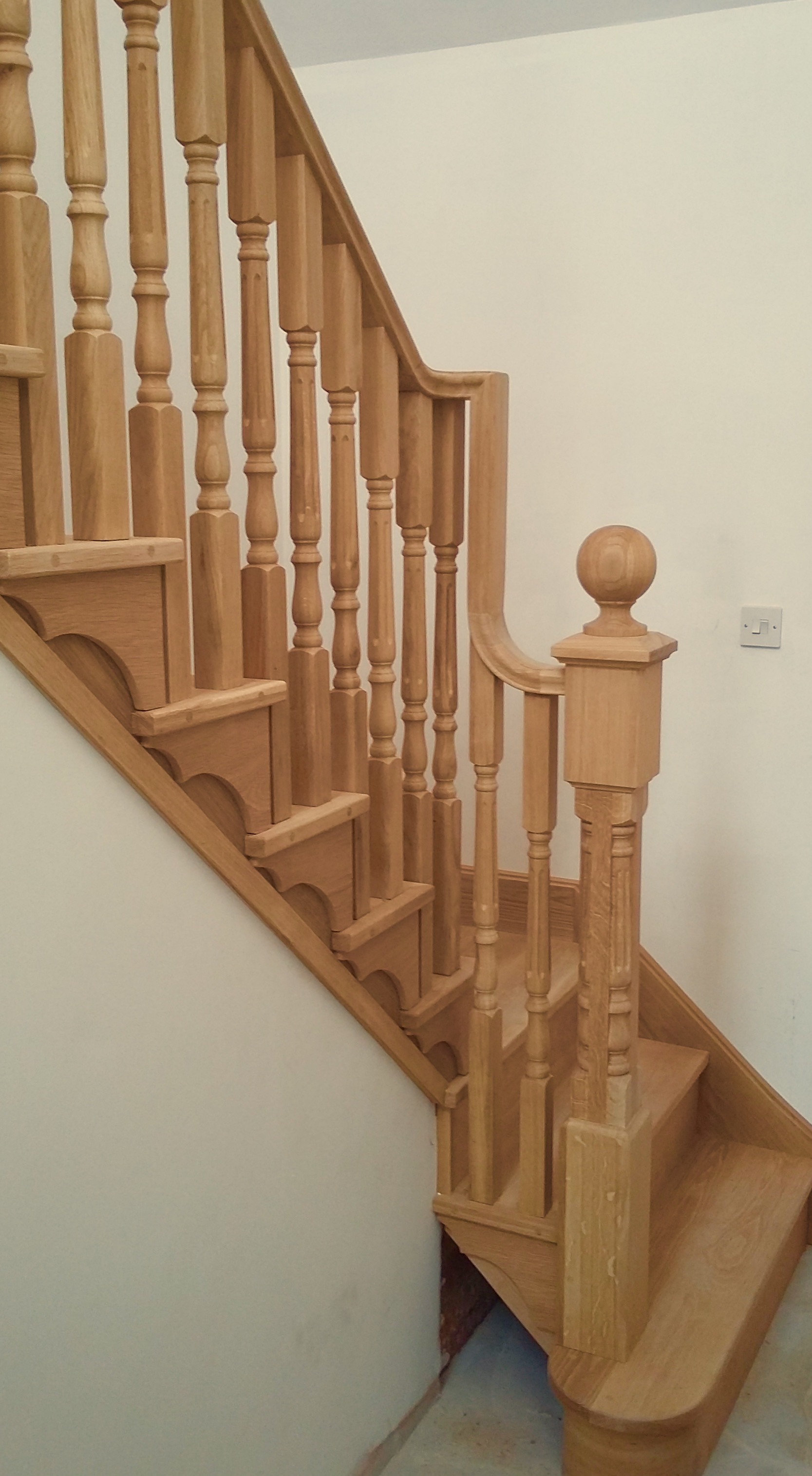 Oak fluted spindles